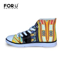 FORUDESIGNS Kids Shoes for Boys Girls Children Casual Sneakers Baby Girl  African Pattern Breathable Soft Walking 2eee727d9b82