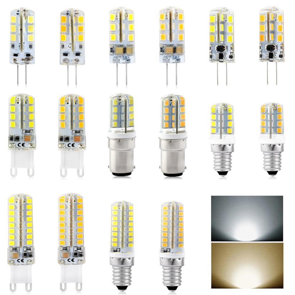 1PC LED Bulb SMD 2835 LED G4 G9 B15 E14 E12 LED Lamp 3W 4W 5W 7W 8W 9W Led Light AC/DC12V AC220V 360 Degree Replace Halogen Lamp