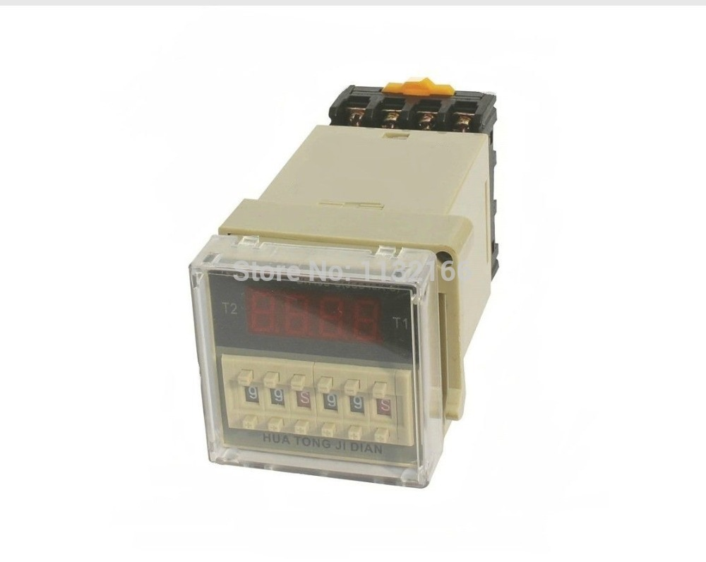 цена на 24VDC Repeat Cycle 3A Multi-function Digital Timer Relay On Delay SPDT DH48S-S 0.01s~99.99s 1s~99m99s 1m~99h99m