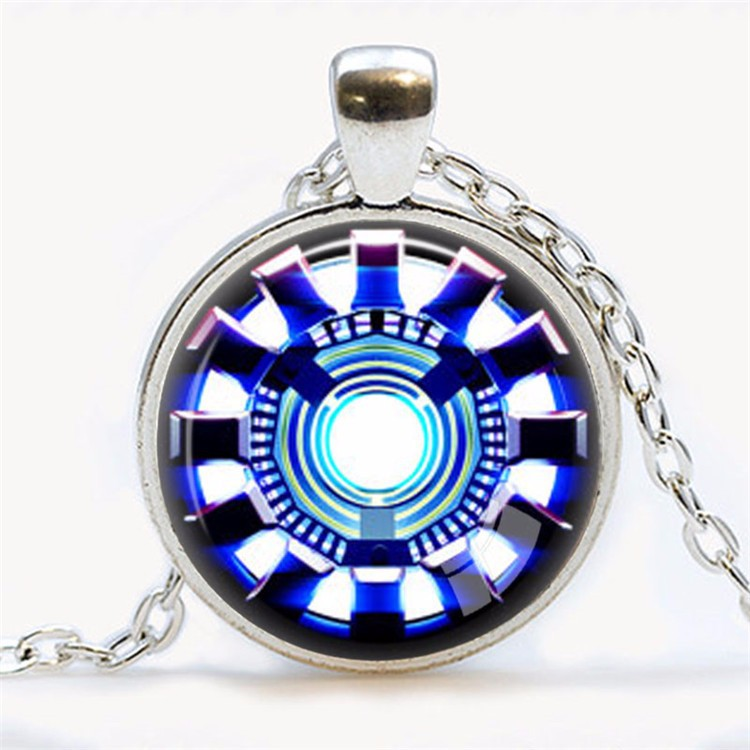 Awesome Iron Man Arc Reactor Necklace Blue