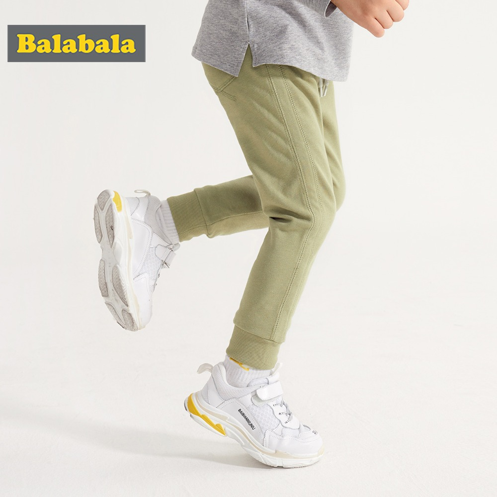 Balabala 2018 Spring Autumn New Kids Pants Baby Boys Casual Pant Kids Clothing Cotton Boys Long Trousers Baby Boys Clothing