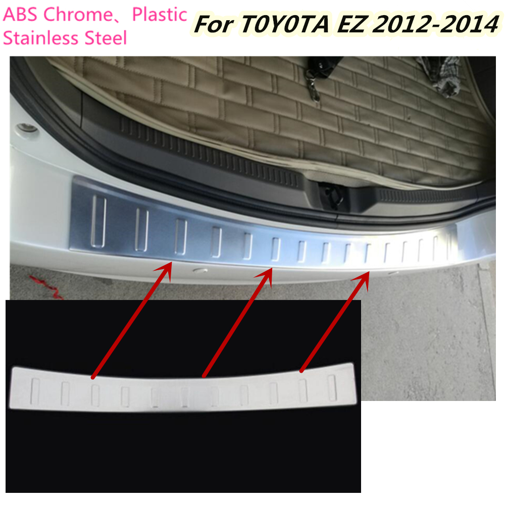 For Toyota EZ Verso 2012 2013 2014 Car cover Stainless Steel outside Rear Bumper tailgate pedal Strip trim plate threshold 1Pcs mochu 21304 21304ca 21304ca w33 20x52x15 53304 spherical roller bearings self aligning cylindrical bore