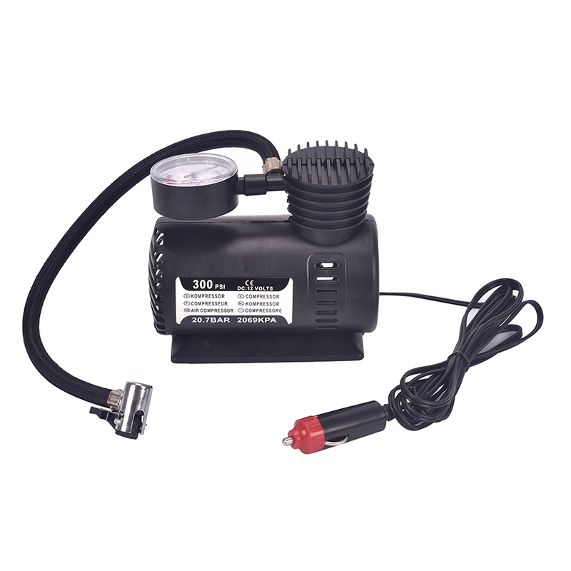 Black Portable 12v Auto Car Electric Air Compressor Tire Infaltor Pump 300 Psiex Elegante Form Kompressoren Sport