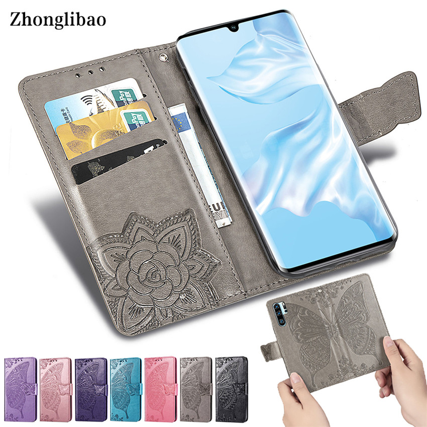 3D Leather Case for <font><b>Huawei</b></font> P30 P20 Mate 20 10 Pro Lite P Smart Y9 Y7 Y6 Pro 2019 Y3 <font><b>Y5</b></font> <font><b>2018</b></font> Nova3i Card Holder Wallet Flip Cover image