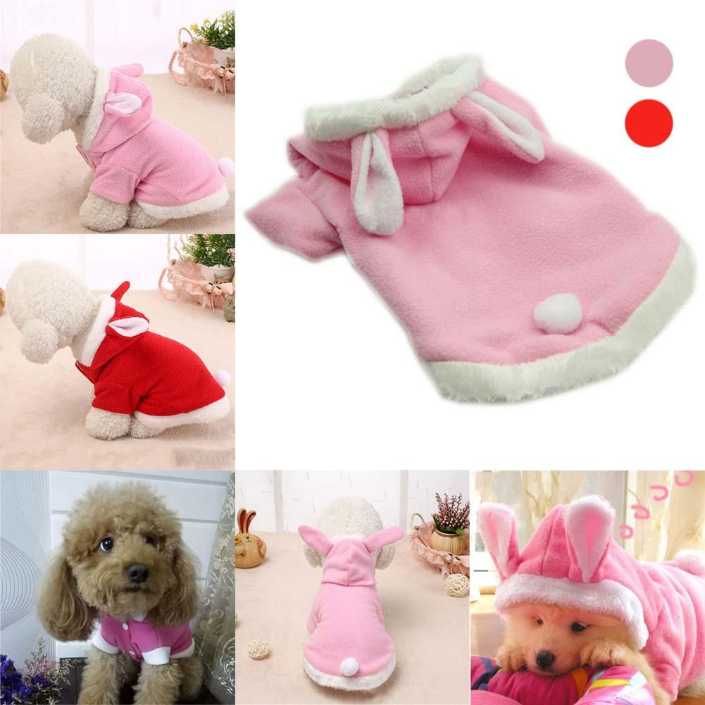 Fleece Warm Dogs Coat font b Pet b font Clothes Dog Cat Costume Puppy Rabbit Animals