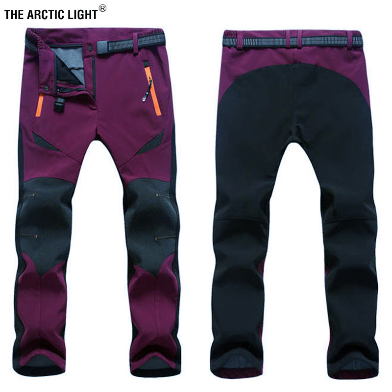 THE ARCTIC LIGHT Winter Outdoor Hiking Climbing Women Snow Pants Trousers Waterproof Windproof Warm Breathable Ski Pants