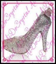 Aidocrystalแฮนด์เมดผีเสื้อแบบคริสตัลrhinestoneส้นรองเท้าส้นสูงปั๊มงานแต่งงานพรหมครบรอบ