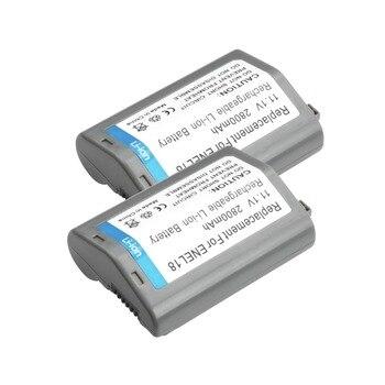 2X 11.1V 2800mAh EN-EL18 ENEL18 Rechargeable Li-ion Battery For Nikon D4 D4S D4X MB-D12 D5 L15