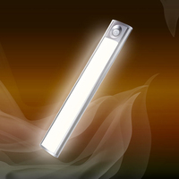 LED Motion Sensor Night Light USB Rechargeable for Wardrobe Cabinet Kitchen Corridor JA55