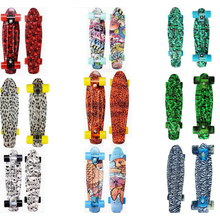22 inch Fish Mini Cruiser Skateboard Skate Board Decks Banana Board Skateboard four-wheel 4 Wheel Street Longboard