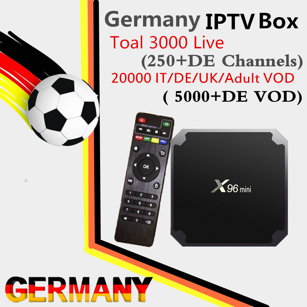 Best X96 mini Android 7.1 TV BOX 2G/16G Swiss German France Italy UK IPTV Box 3000+Live & DE/IT/UK/FR VOD smart set top tv box a95x pro voice control with 1 year italy iptv box 2g 16g italy iptv epg 4000 live vod configured europe albania ex yu xxx