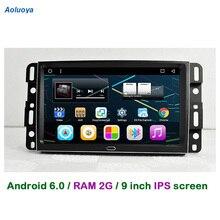 Aoluoya RAM 2G Android 6.0 Radio de COCHE DVD Gps Para GMC Yukon Acadia 2007-2012 Chevrolet Tahoe Tahoe Suburban 2007-2012
