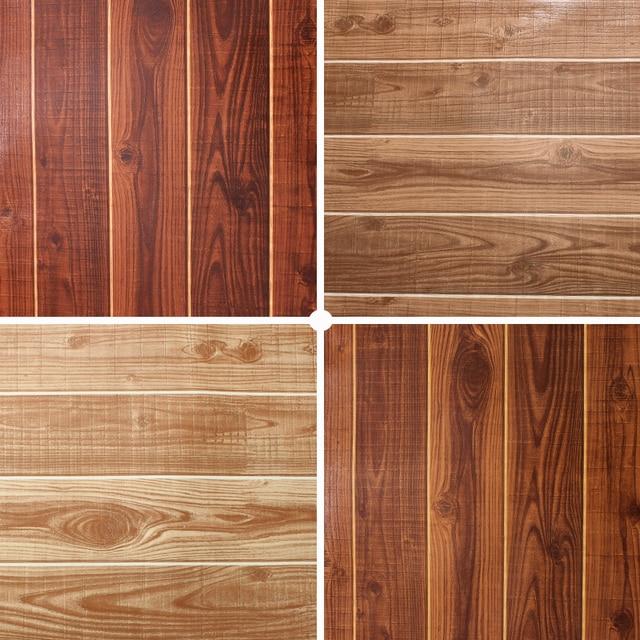 3d Papel De Parede Stripe Washable Vinyl 3d Wood Texture Wallpaper