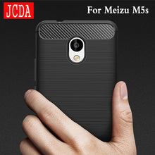 JCDA Brand For meizu meilan M5s phone Case bag Carbon Fibre Brushed TPU soft protective Smart back cover shell Shockproof M 5S