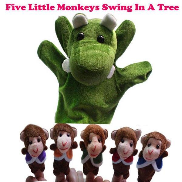 Unique Finger Puppet Nursery Rhyme Five Little Monkeys Swing In A Tree Hand