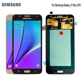 SUPER AMOLED para SAMSUNG Galaxy J7 Neo pantalla J701F J701M J701MT j701 LCD Digitzer Asamblea piezas de repuesto de pantalla