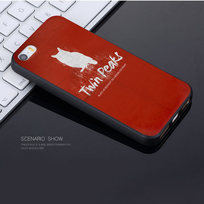 MaiYaCa Welcome To Twin Peaks Black Cover Case for iPhone X 8 7 6 6S Plus 5 5S SE Case