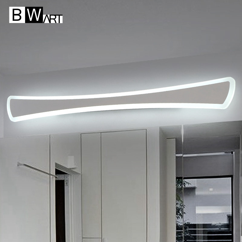 BWART Modern Anti-fog proof LED mirror lights dressing table/toilet/bathroom mirror front lamp, AC85-265 0.4-1.2m 8-24W optional shipping costs fog proof led mirror lights dressing table toilet bathroom mirror front lamp ac85 265 12w 60cm