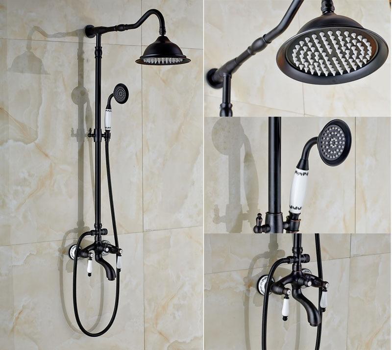 Contemporary Retro Style Oil Rubbed Bronze Shower Faucet