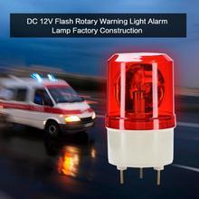DC 12V Flash Warning Light Rotary Strobe Warning Light Alarm LED Indicator Signal Light Lamp Factory Construction dc 24v 5w red rotating flash light industrial signal warning lamp rmoyb
