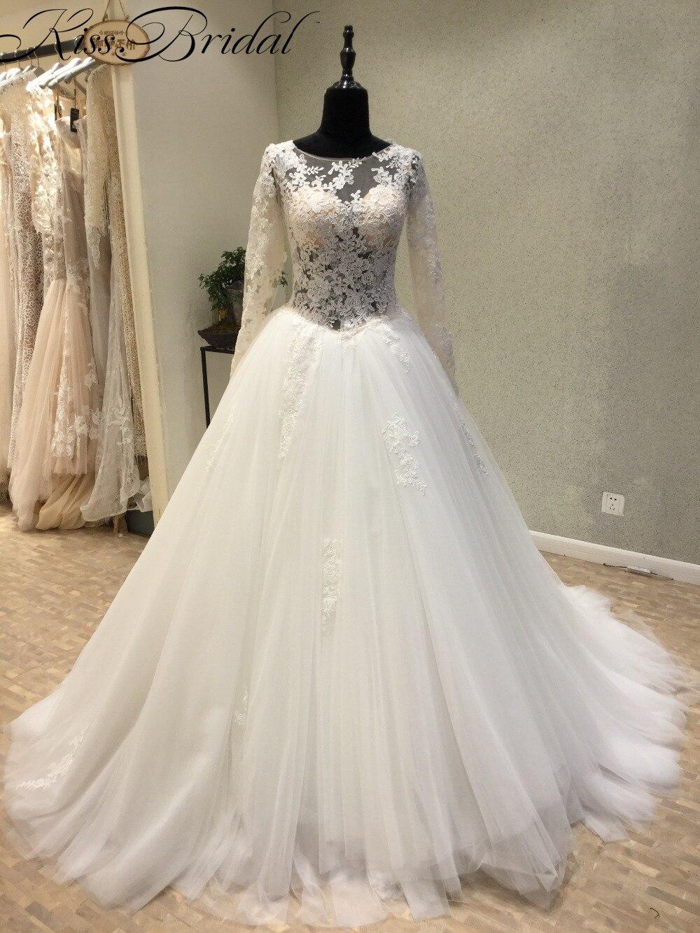 Arabic Gelinlik Luxury Big Ball Gown Lace Wedding Dresses 2017 robe ...