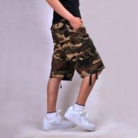 Multi-pocket Plus Camo Camouflage Militaire Leger Combat Kaki Groen mannen Cargo Shorts Blauw Katoen Baggy Hip-pop