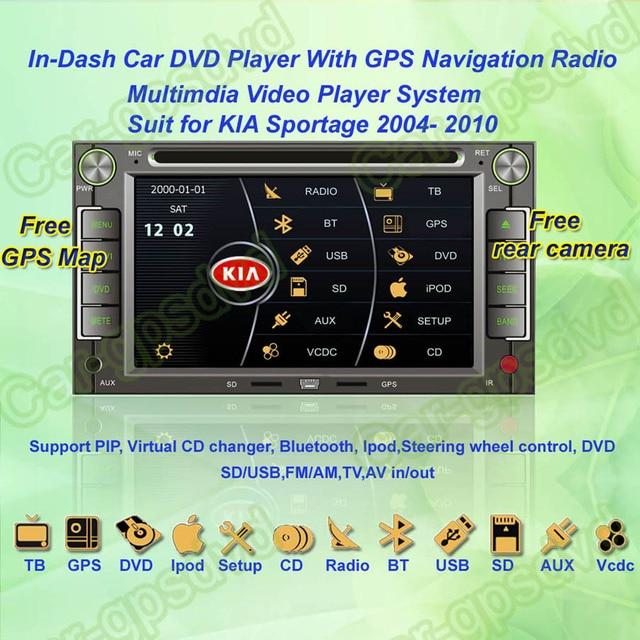 2004- 2010 KIA Sportage Car DVD Player ,with GPS Navi,Multimedia Video Radio Player system+Free GPS map+ Free shipping!!!