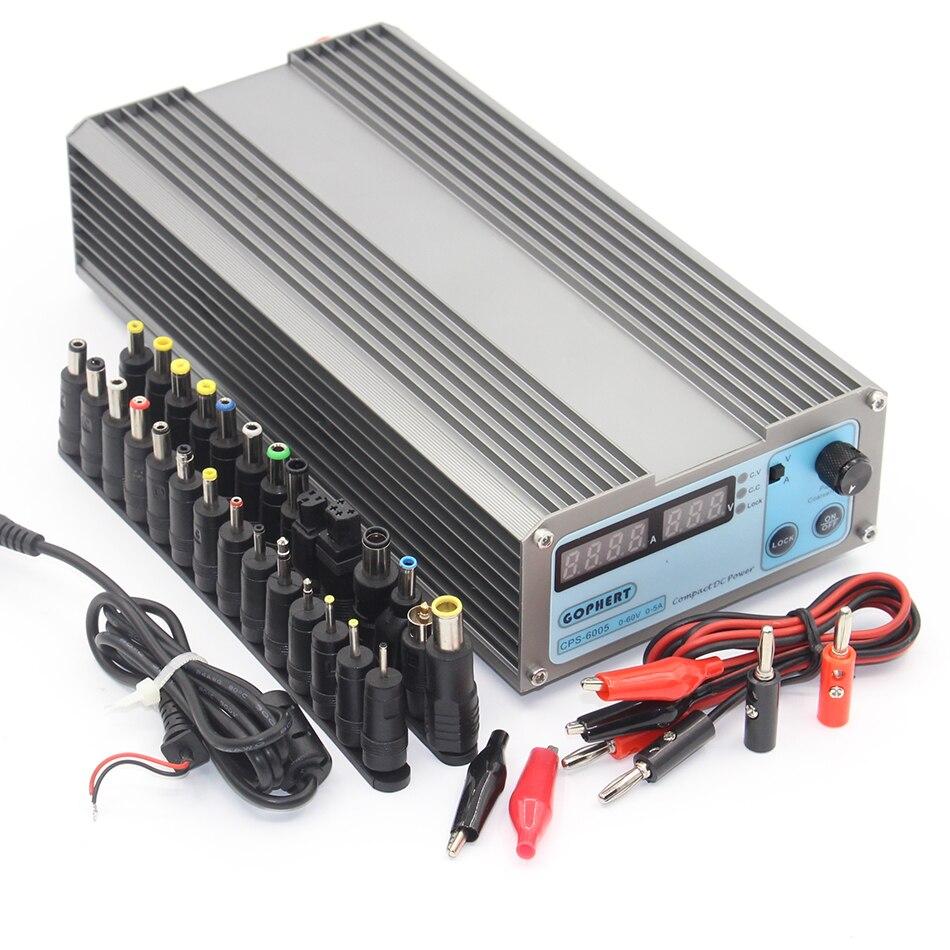 CPS6005 Mini précision Compact numérique réglable commutation DC alimentation OVP/OCP/OTP faible puissance CPS-6005 60 V 5A 110 V-220 V
