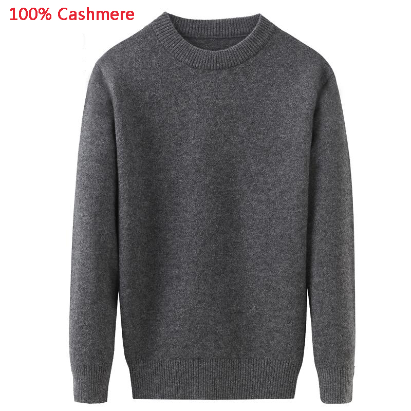 O-Neck Sweater Male Pullovers Knitted Cashmere Thickening Autumn Men Winter Plus-Size