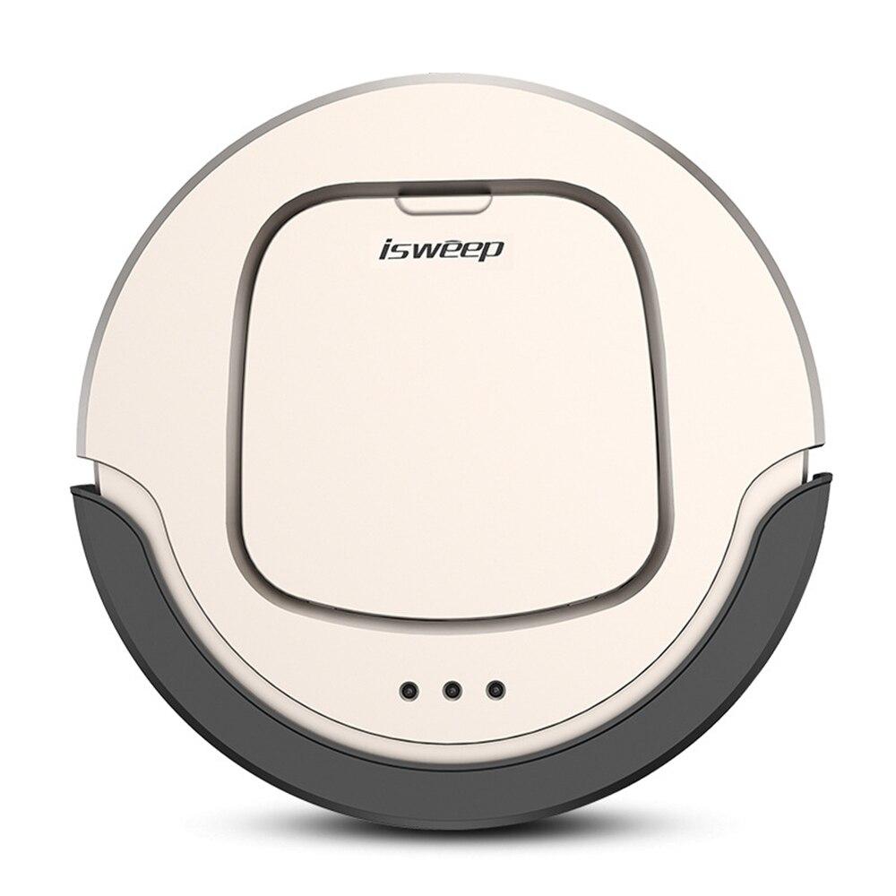 Isweep Robot Aspirapolvere resistenza di circa 90 min 4 Modalità di Prodotti e Attrezzature Smart per il Controllo Remoto Pulito Auto Carica + Pulire Panno macchina a casa