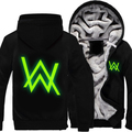 2016 New Men Winter Coats Jackets Alan Walker Hoodie HipHop Casual Zipper Warm Sweatshirts