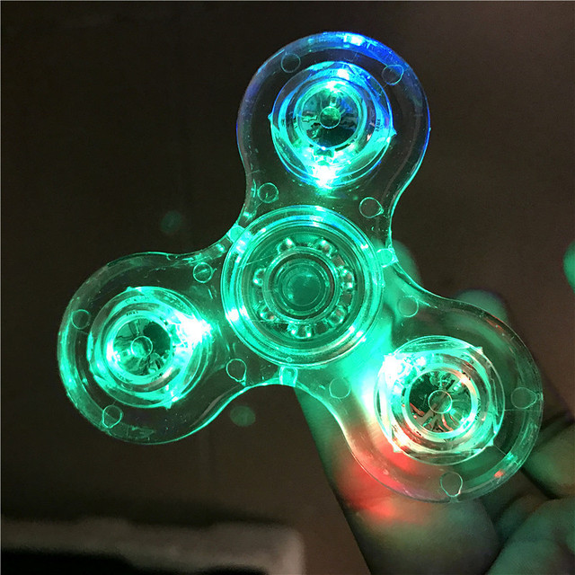2017 Finger Spinner Glow In Dark Fidget Toys Led Hand Spiner Lumineux Spinners For Autism