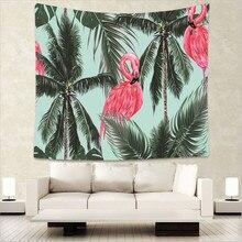купить Qaulity Tropic flamingo print Indian tapestry hippie mandala wall hanging Bohemian bedspread dorm decor tapestry 130x150cm GA10 дешево