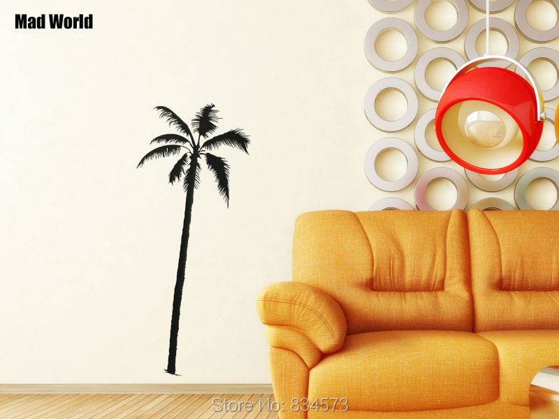 Mad World Palm Tree Coconut Palmier Beach Surf Wall Art