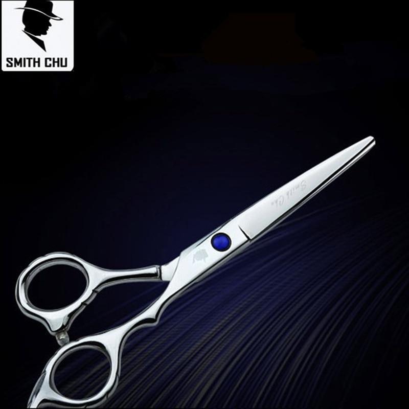 新しい到着のSMITH CHUスチールはさみ理髪師の切断のためのプロの理髪はさみ6.0は利用可能