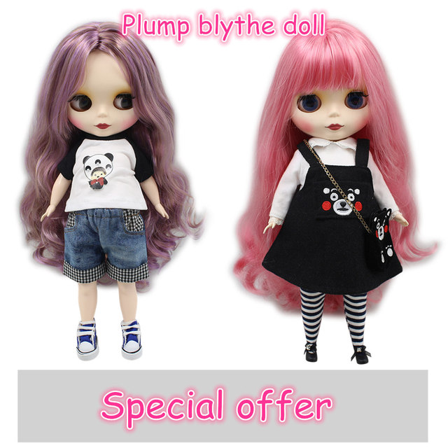 Blyth Nude Plump fat body doll different items BJD toys Fashion Dolls DIY girl gift Special Offer on sale