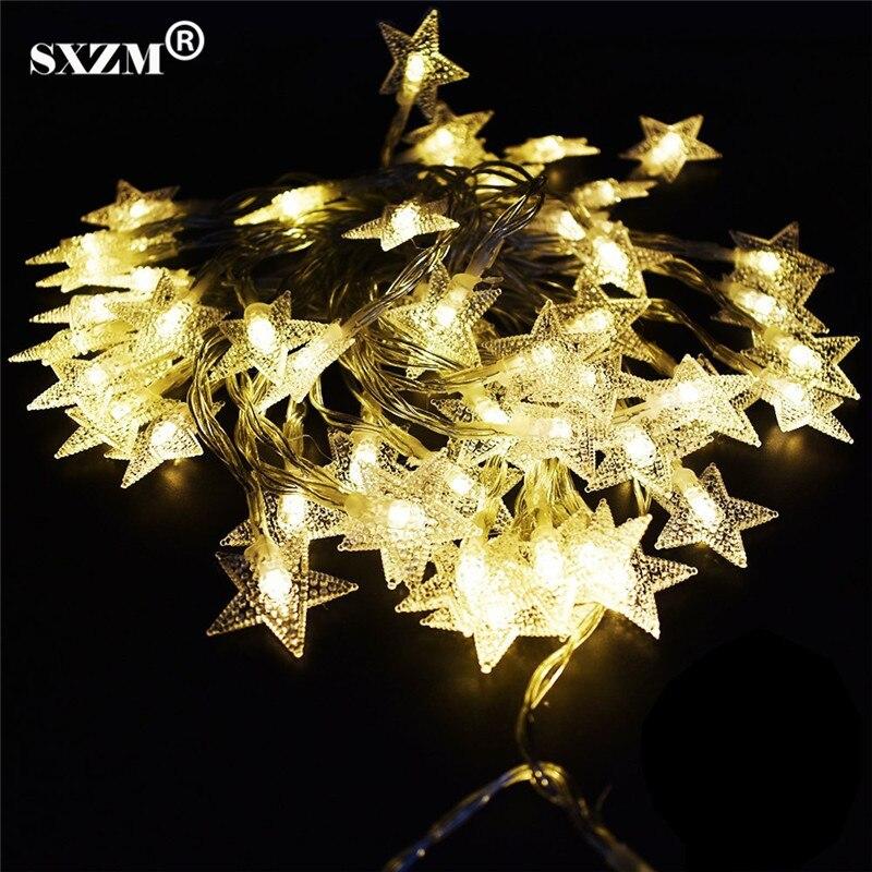 "10M 100L מחרוזת אור כוכב AC110V 220V חג פיות תאורה 8 מצבים האיחוד האירופי / ארה""ב תקע גן חג המולד עצים קישוט חדר השינה קישוט"