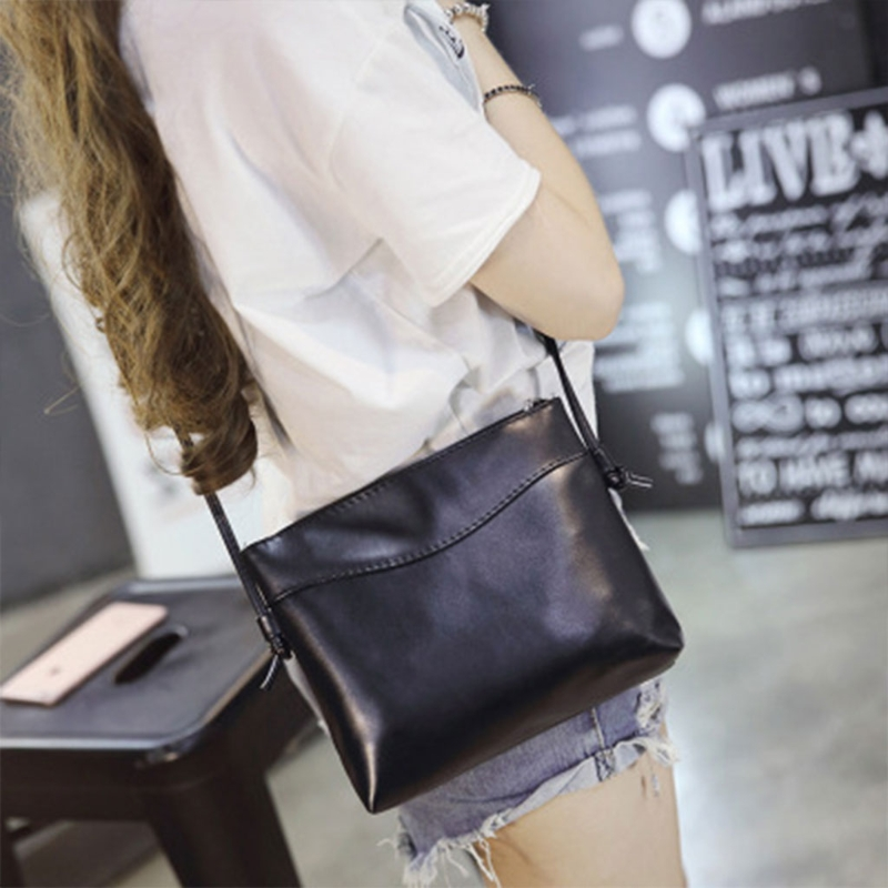 THINKTHENDO Women Leather Shoulder Bags Messenger Bags Small Handbags Clutch Ladies Party Purse Crossbody Black Zip Solid casual small candy color handbags new brand fashion clutches ladies totes party purse women crossbody shoulder messenger bags