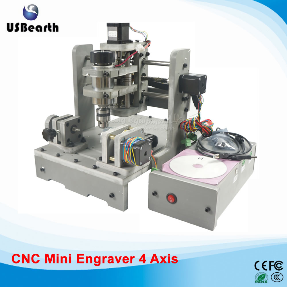4 axis cnc cutting machine 300w wood pvc pcb milling machine, no tax to EU high steady cost effective wood cutting mini cnc machine milling