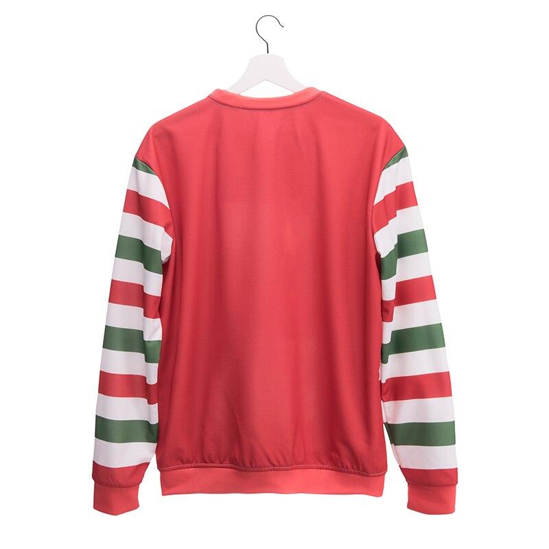 FCCEXIO 2017 Fall/Winter Christmas Women Sweatshirt Cartoon Santa Claus 3D Printed Cartoon Plus Size Pullovers New Fashion Sweat