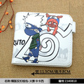 The new 2016 kaleidoscope write round eyes Naruto wallet PU leather short paragraph wallet cartoon ferret Tsunade Jiraiya