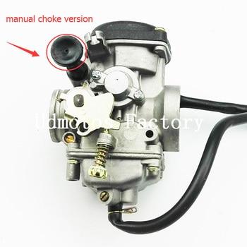 Manual Choke Version Size 30mm Carburetor TK JIANSHE LONCIN BASHAN 250cc ATV QUAD ATV250 JS250 Carburetor antik siyah kulp