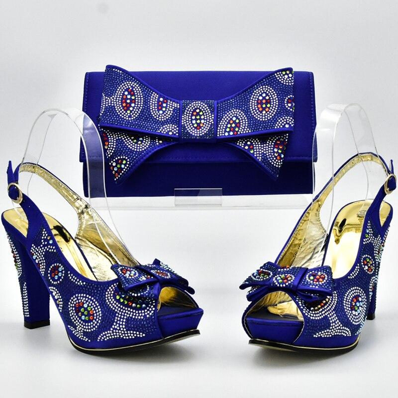 Or pourpre Assorties Africaines Chaussures Arrivée Pour Dans Les Femmes vin Sac Nouvelle De bleu Ensembles Italien Mariage Rouge rose Bleu Strass vert Sacs Royal Et UMGpzVLqS