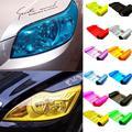 60CM * 30CM Auto Auto Licht Scheinwerfer Rücklicht Film Aufkleber Transparent Film Auto Licht Film Abdeckung Wasserdicht -