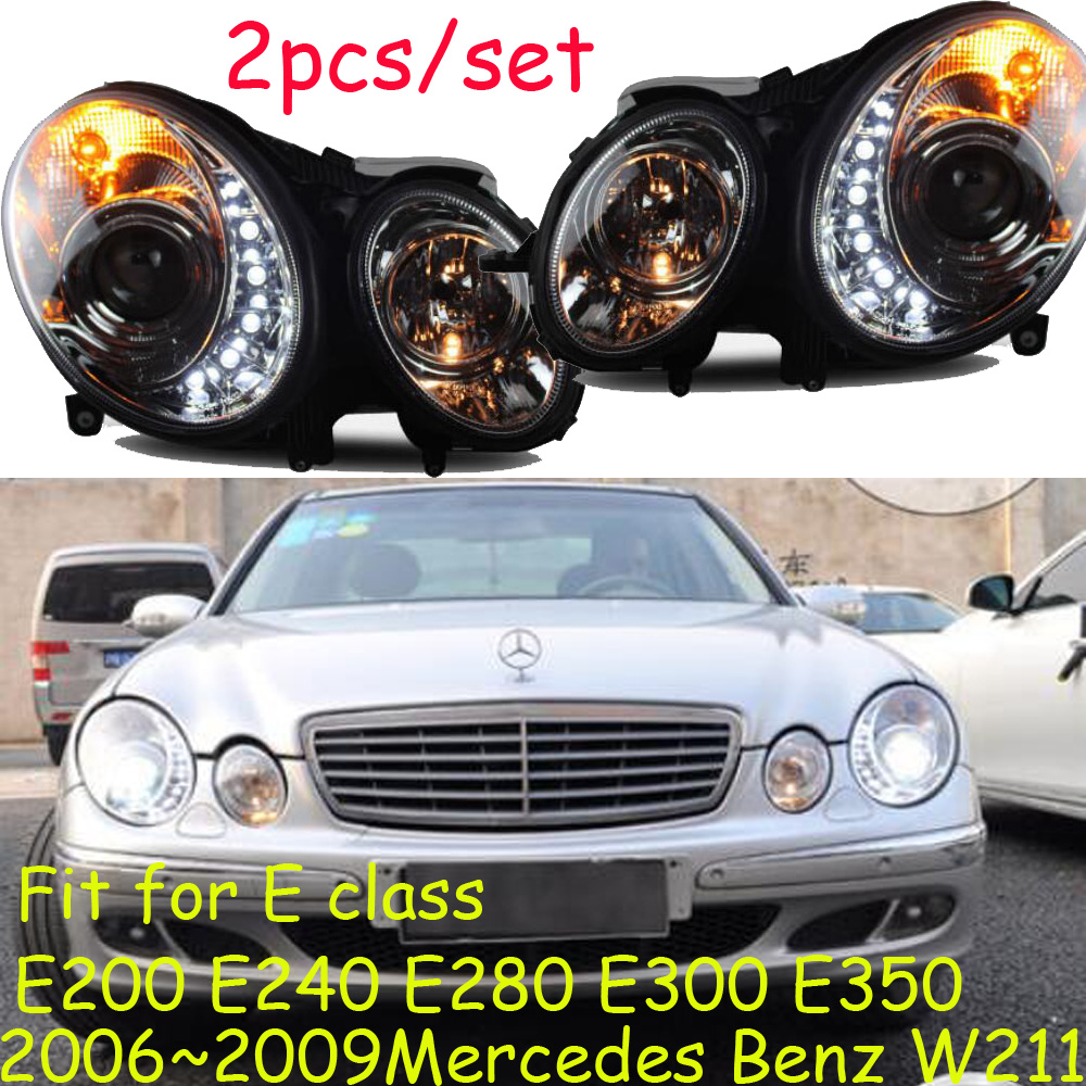 W211 headlight,2006~2009,E200,E240,E280,E300,E350,Free ship! W211 fog light,2ps/set+2pcs Ballast;W211,W 211 jw075a1 e