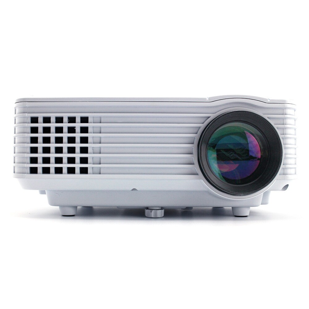 RD-805 Projector,800*480 120 Lumens Multimedia Mini Portable LED Projector Home Cinema Theater HDMI / USB/ AV / VGA/ ATV/ 3.5mm