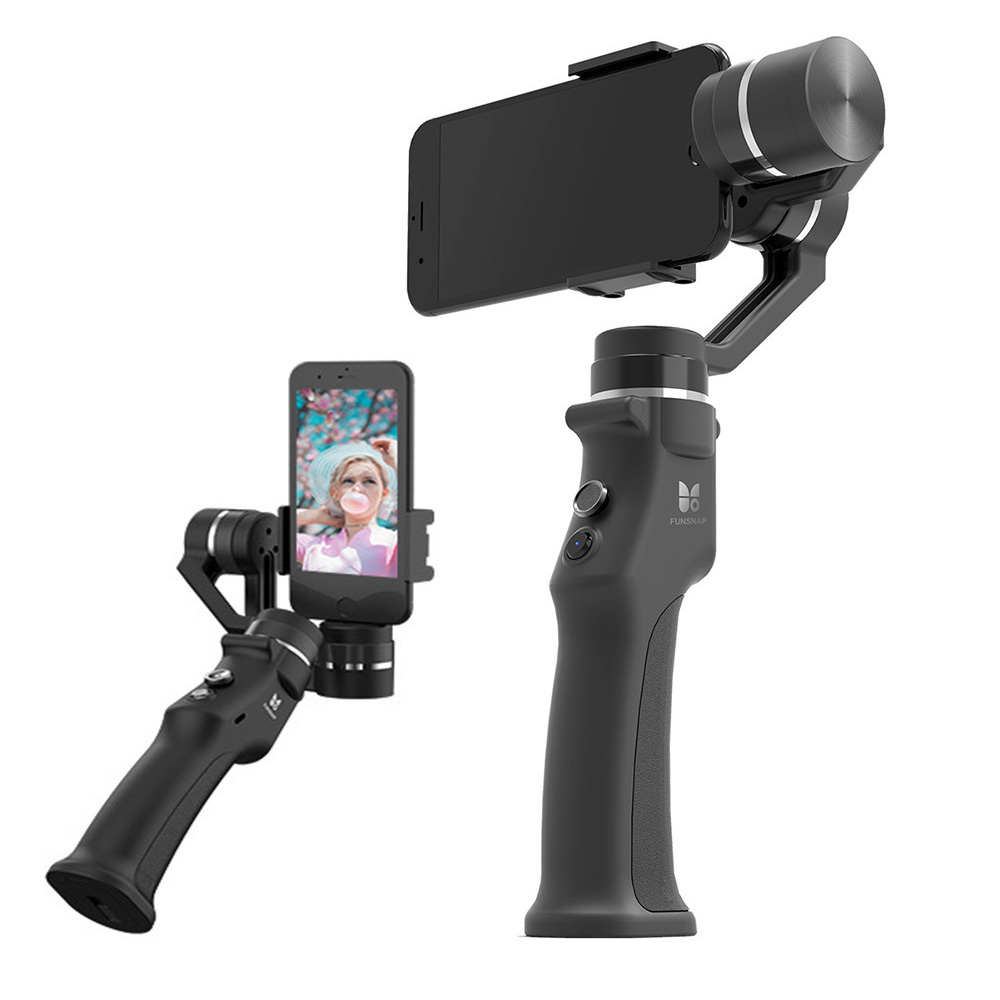 Capture 3-Axes De Poche Cardan Stabilisateur suivi Du Visage Motorisé Steadycam pour iPhone X Samsung S8 Huawei P20 Pro