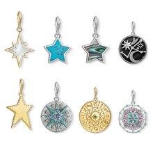 7a51deee2888 Signo de moneda calendario maya Astro disco encantos colgante Fit pulsera y collares  925 plata esterlina bricolaje joyería de re.