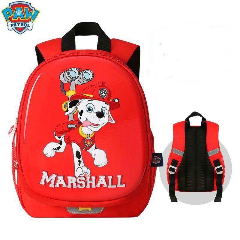 2019 New Genuine Paw Patrol Marshall Waterproof Bag For Kids Backpack Children School Bag Satchel Knapsack Zipper 1-3-6years 1pc