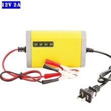 Car Motorcycle Battery Charger 12V 2A Full Automatic Lead Acid Dry Wet Smart LCD Display Charging 12V 5AH 7AH 12AH 14AH 20AH недорого